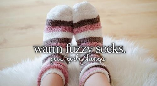 Fuzzy/Fluffy aesthetic socks.  Seriously, who wouldn't want a pair!